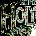 Greetings from Holyoke postcard